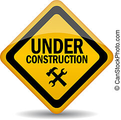 Under construction vector sign - Vector sign under...