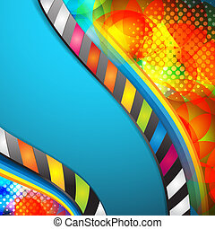 Abstract colored background, business template for...
