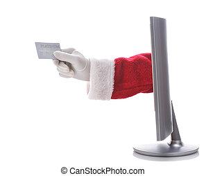 Santa E-Commerce - Santa Claus arm sticking through a...