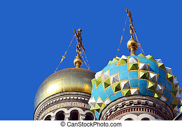 Domes of Church of the Savior on Blood