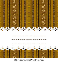 Sample text ribbon over african design