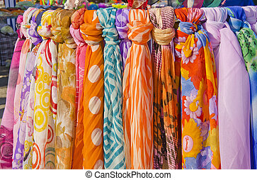 Multicolor shawls and scarves. - Multicolor shawls and...