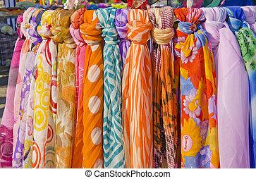 multicolor, Chales, bufandas