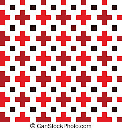 Red cross seamless pattern