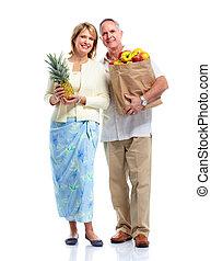 Shopping couple.