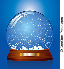 snow globe - vector illustration of snow globe
