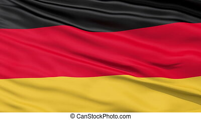 Realistic Germany flag in the wind - Realistic 3D detailed...