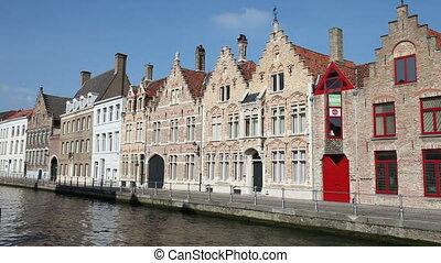 Bruges canal, Belgium   - Bruges canal view, Belgium
