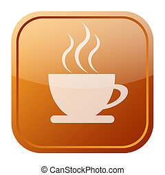 Coffee icon isolated on white