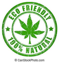 cannabis, eco, amigável, selo