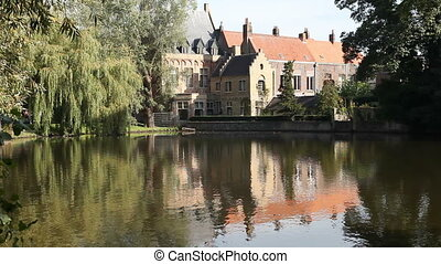 Love Lake in Bruges, Belgium - Love Lake in Bruges, Belgium...