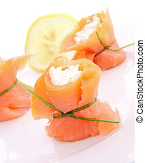 appetizer, salmon and cheese