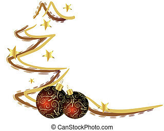 christmas card - vector illustration of an isolated abstract...