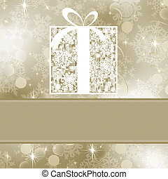Elegance gift box. EPS 8 vector file included