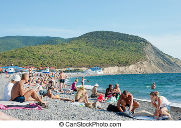 Beach in the village of Sukkah Russia - Beach in the resort...