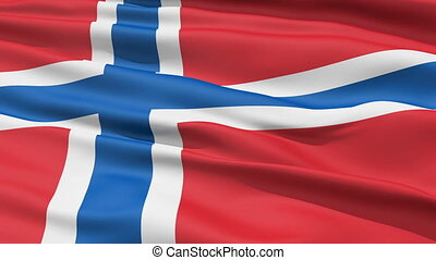 Realistic Norway flag in the wind - Realistic 3D detailed...