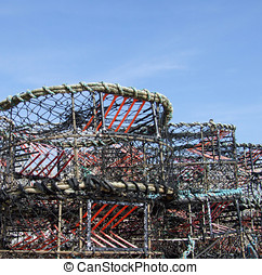 Crab Pots - Crab or lobster pots/nets used for fishing.