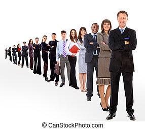 empresa / negocio, hombre, el suyo, equipo, aislado, encima,...