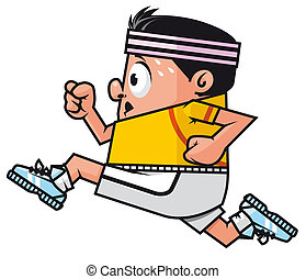 Runner - Isolated illustration Cartoon runner