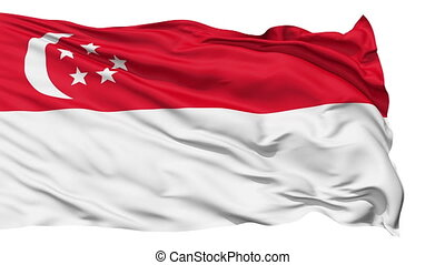 Realistic Singapour flag - Realistic 3D detailed slow motion...