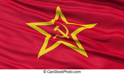 Realistic Soviet Union flag - Realistic 3D detailed slow...