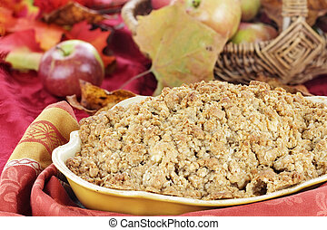 Apple Crisp - Freshly baked apple crisp with fresh apples...