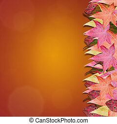 Autumn Leaves Background - Gradient background with colorful...