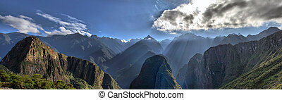View of Andes Mountain Range - Machu Picchu
