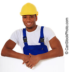 Black manual worker - Attractive black manual worker. All on...