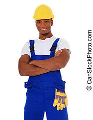 Black manual worker - Attractive black manual worker All on...