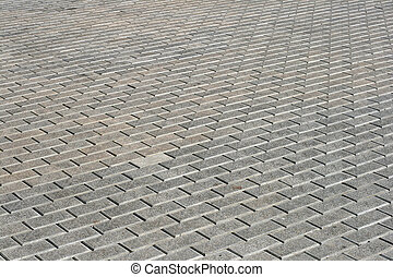 Cobblestone pavement