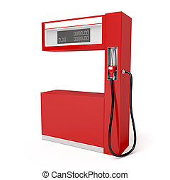 Fuel pump - Red fuel pump on white background