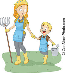 Gardening Club - Illustration of a Gardening Club Adviser...