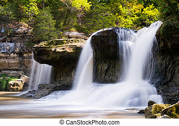Alongside Upper Catarct Falls - Indianas Upper Cataract...