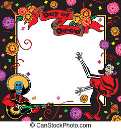 Day of the Dead Party Invitation with room for your copy