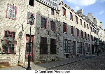 Old Montreal architecture - Old architecture in the heart of...