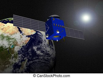 earth and sattelite