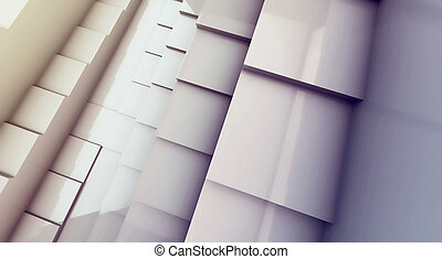 3d futuristic cube abstraction background