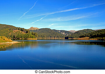 Lake in Transylvania - A beautyful lake in the mountains in...