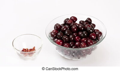 Cherry   - Time lapse of cherry eating