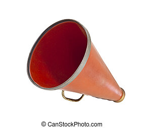 Megaphone Up - Vintage megaphone from the 1920's isolated on...