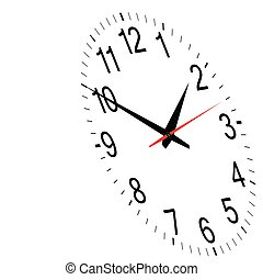 clock time vector art illustration on white background