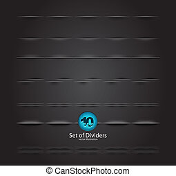 Vector web divider set - Vector design elements for your...