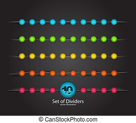 Vector web divider set