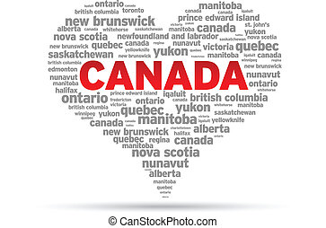 I Love Canada Illustration on white background