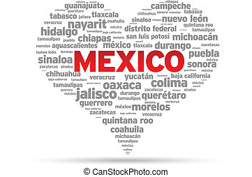 I Love Mexico Illustration on white background.