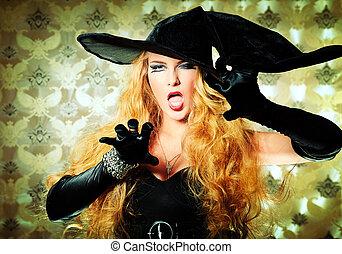 fâché, sorcière