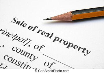 venta, verdadero, propiedad