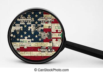 US grunge puzzle  flag
