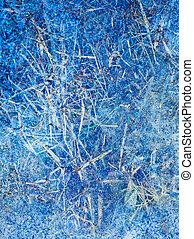 bleu, résumé, hiver, fond, glace